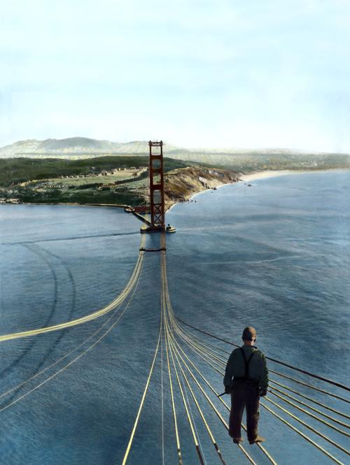 Dessin Du Pont De San Francisco la construction du golden gate bridge de san francisco
