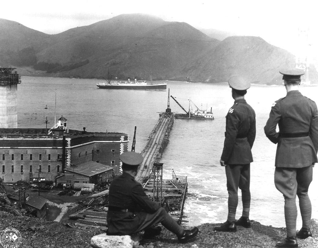 La Construction Du Golden Gate Bridge De San Francisco