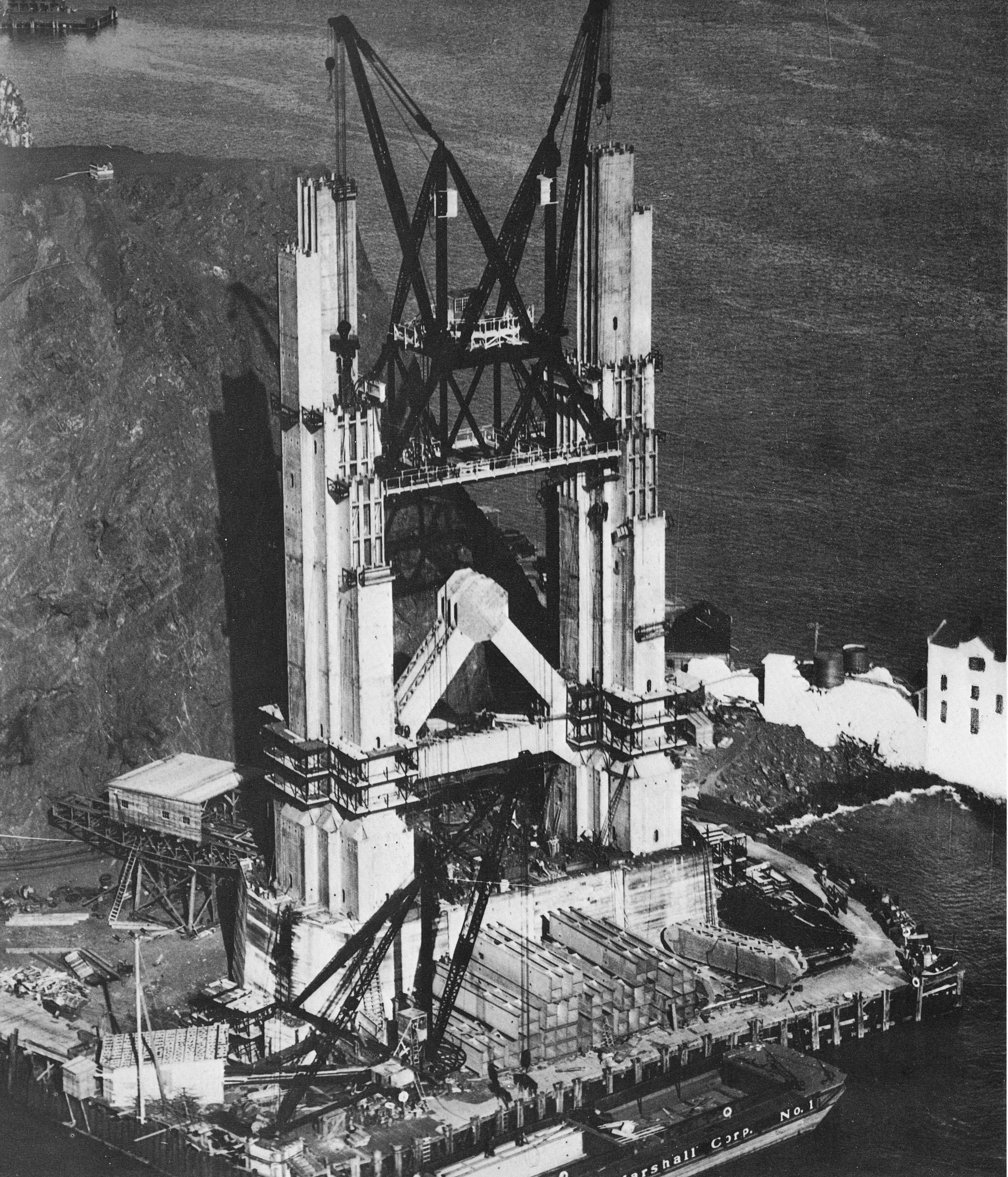 construction Golden Gate Bridge 06 La construction du Golden Gate Bridge
