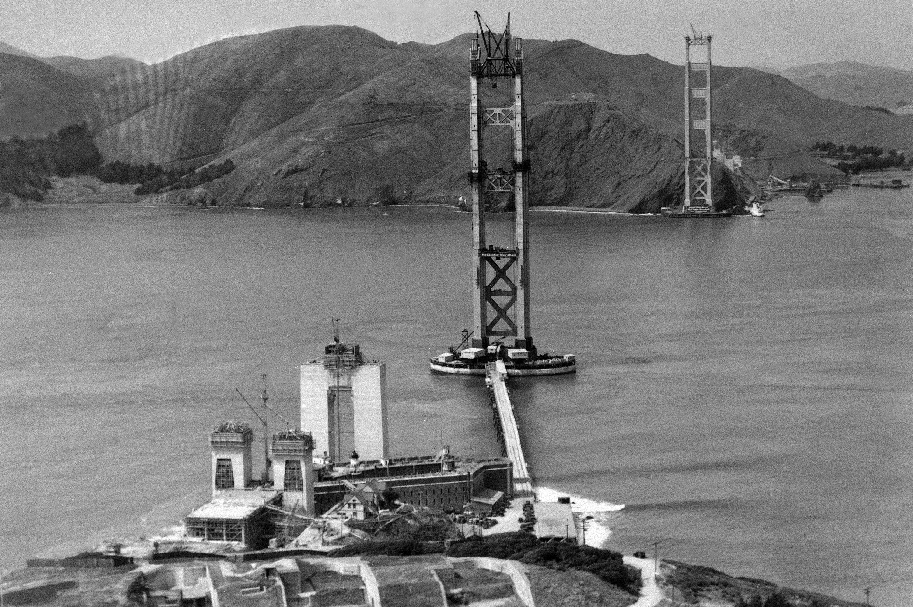 construction Golden Gate Bridge 07 La construction du Golden Gate Bridge