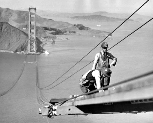 construction Golden Gate Bridge 16 La construction du Golden Gate Bridge  photo histoire featured architecture