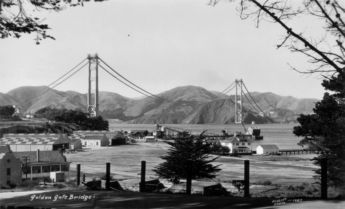 construction Golden Gate Bridge 17 La construction du Golden Gate Bridge  photo histoire featured architecture
