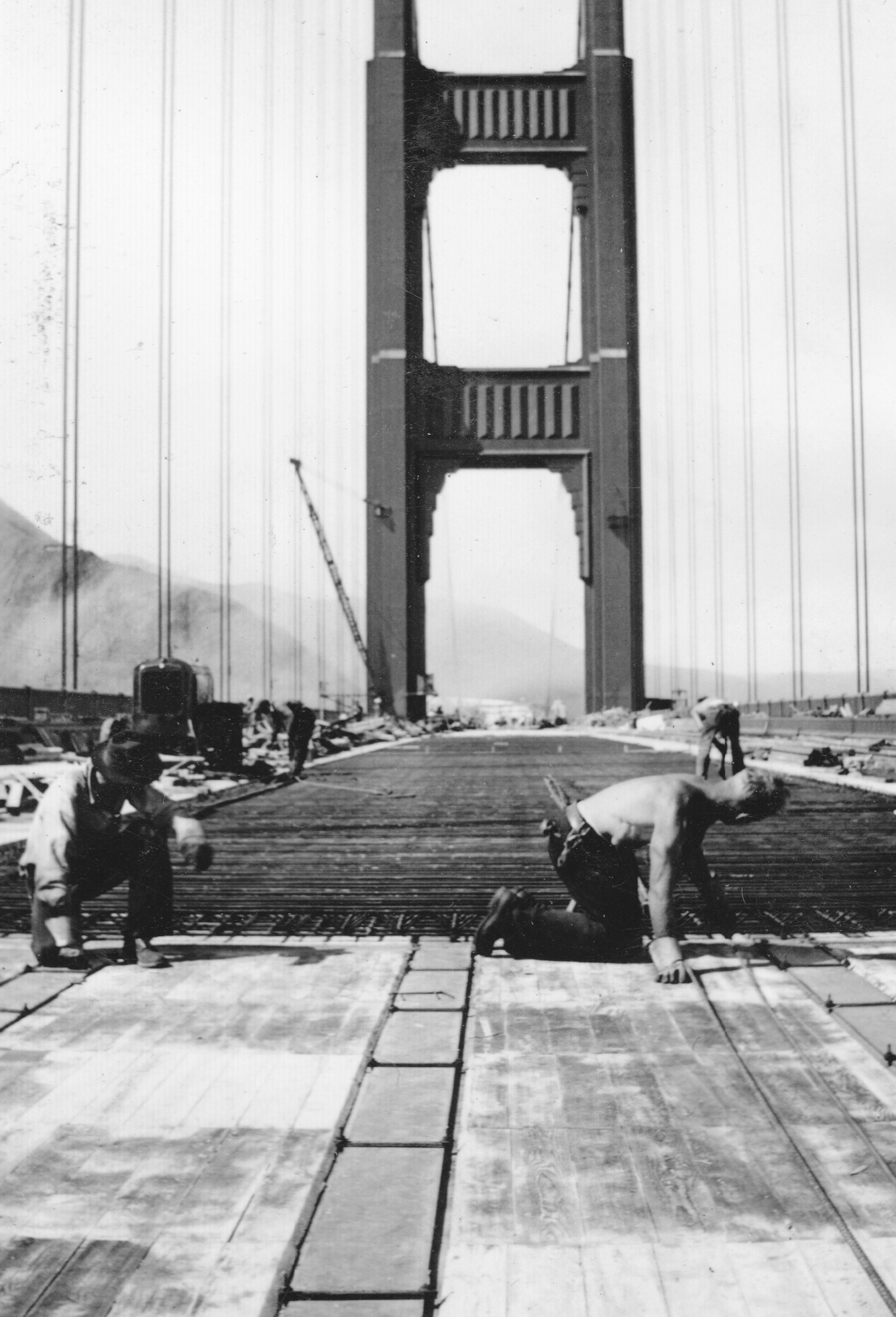 construction Golden Gate Bridge 22 La construction du Golden Gate Bridge