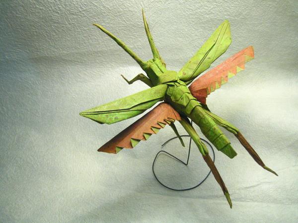 insecte origami feuille papier 01 Insectes réalistes en une feuille de papier geek divers bonus art