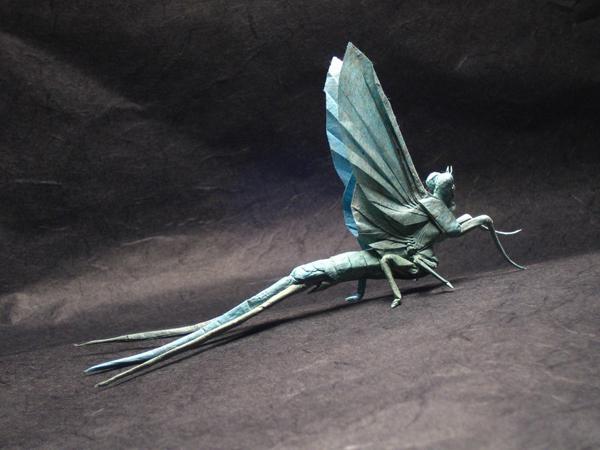 insecte origami feuille papier 02 Insectes réalistes en une feuille de papier geek divers bonus art