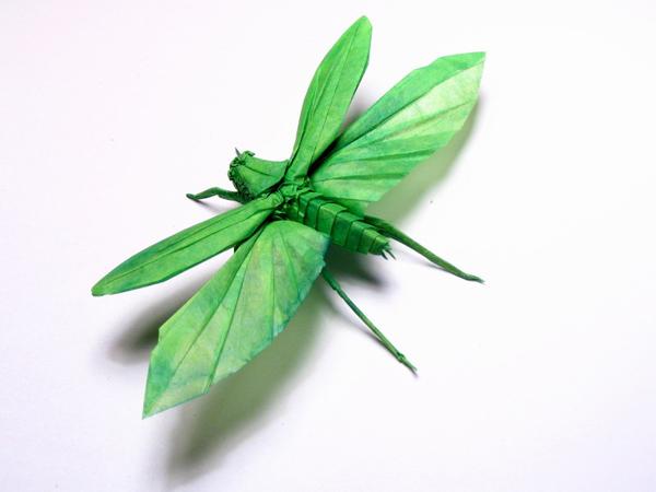 insecte origami feuille papier 04 Insectes réalistes en une feuille de papier geek divers bonus art