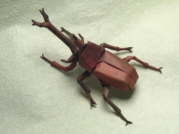 insecte origami feuille papier 06 Insectes réalistes en une feuille de papier geek divers bonus art