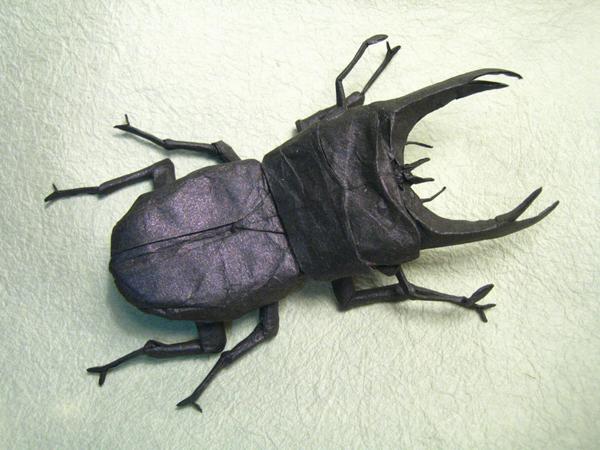 insecte origami feuille papier 08 Insectes réalistes en une feuille de papier