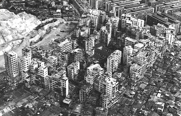 kowloon walled city 1973 aerial Kowloon Walled City  lieux information featured carte information