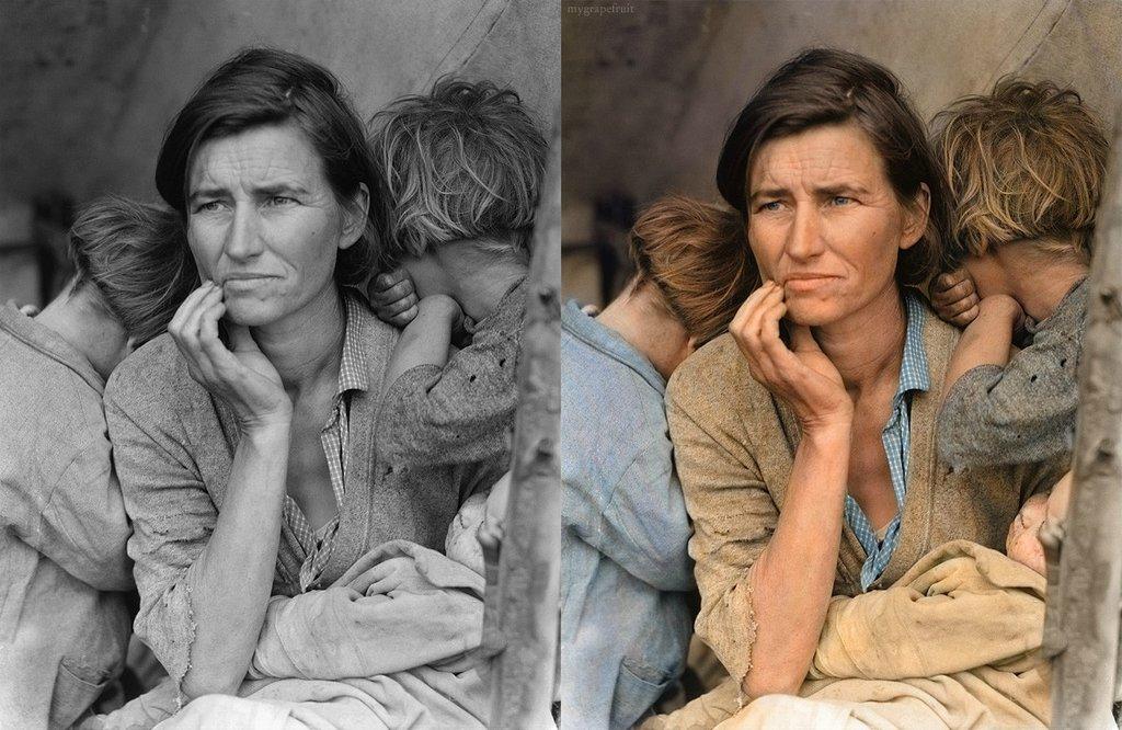 photo ancienne colorise 14 Vieilles photos célèbres colorisées  photographie histoire design bonus