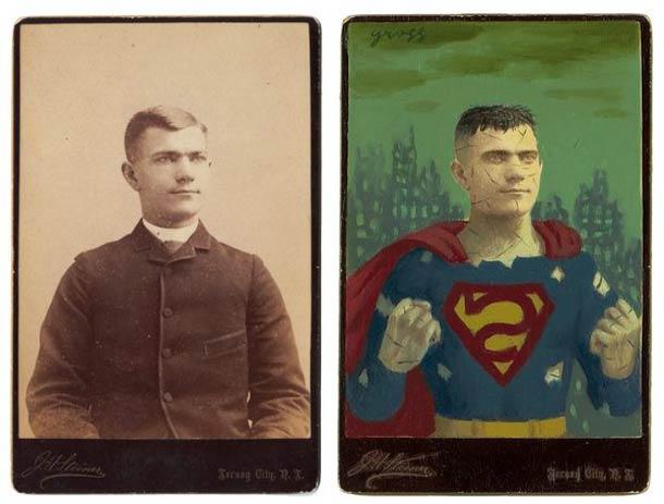 vieu portrait peinture super hero 02 Portraits des années 1870 transformés en super héros