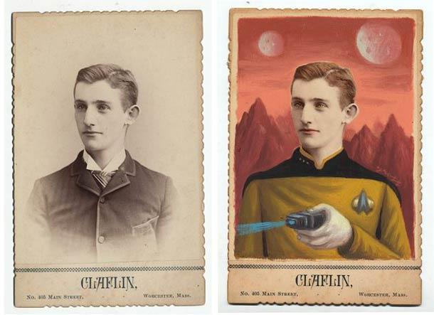 vieu portrait peinture super hero 04 Portraits des années 1870 transformés en super héros