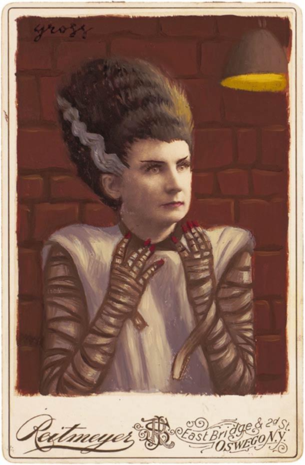 vieu portrait peinture super hero 20 Portraits des années 1870 transformés en super héros