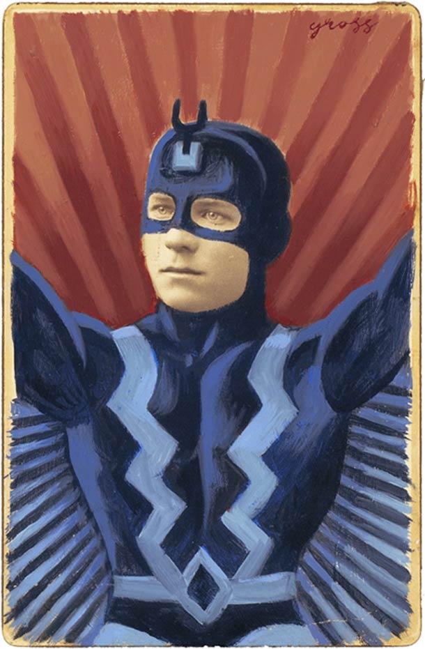 vieu portrait peinture super hero 21 Portraits des années 1870 transformés en super héros