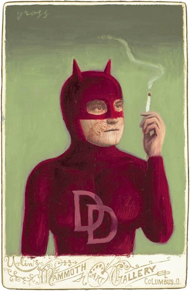 vieu portrait peinture super hero 24 Portraits des années 1870 transformés en super héros