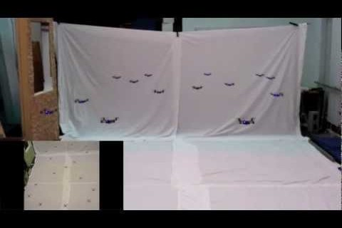 Un essaim de mini-quadrocoptères