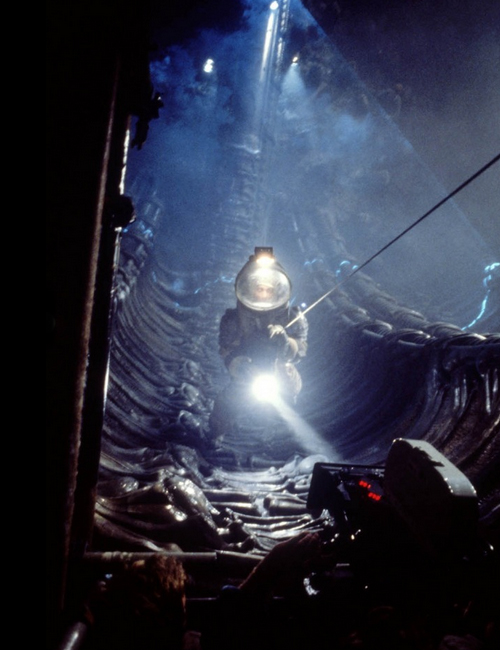 photo tournage coulisse cinema Alien 46 Photos sur des tournages de films #2