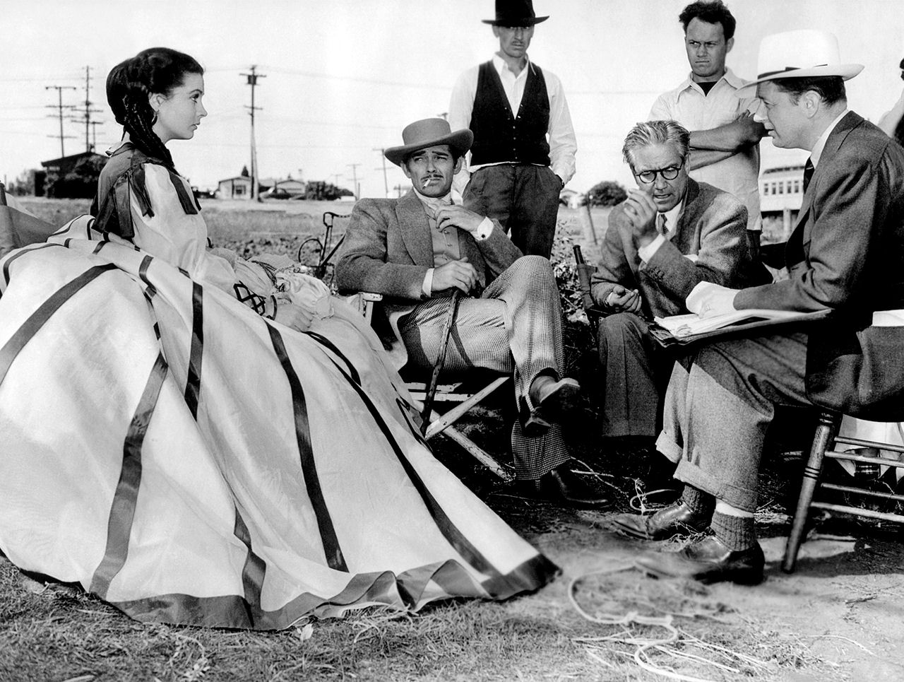 photo tournage coulisse cinema GoneWithTheWind 10 Photos sur des tournages de films #2