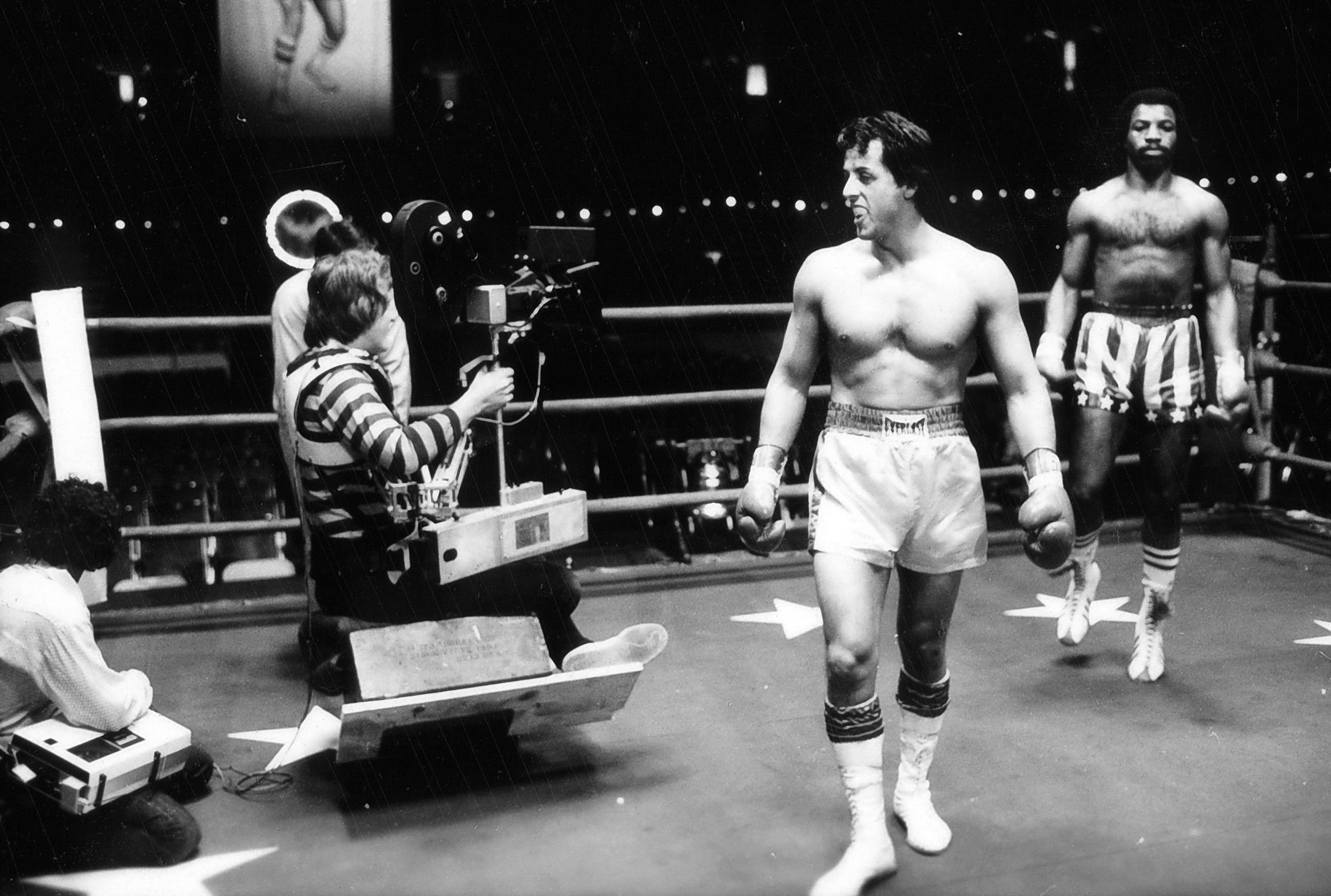 photo tournage coulisse cinema Rocky2 15 Photos sur des tournages de films #2