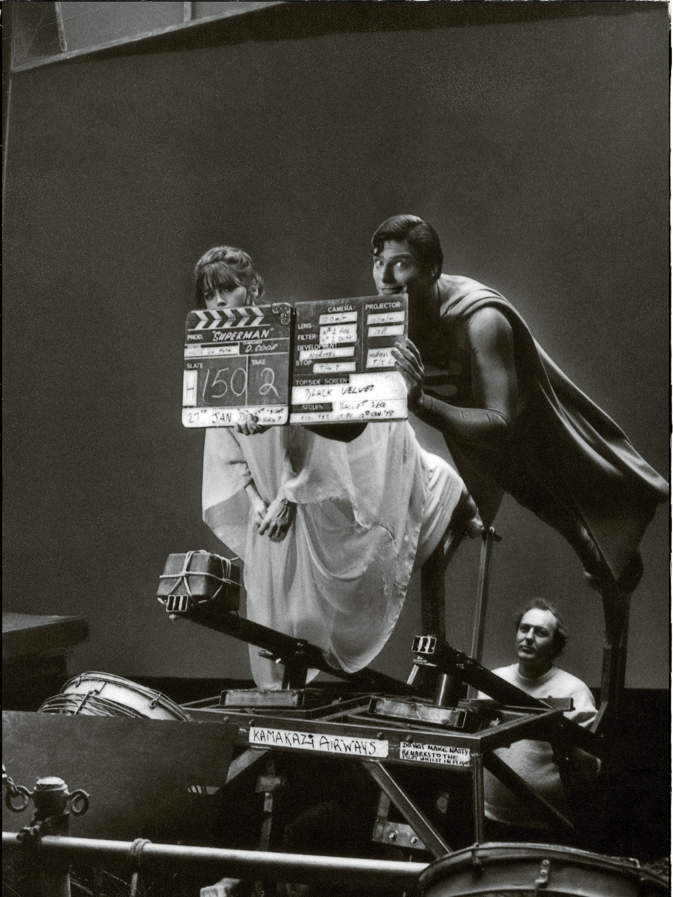 photo tournage coulisse cinema Superman 19 Photos sur des tournages de films #2
