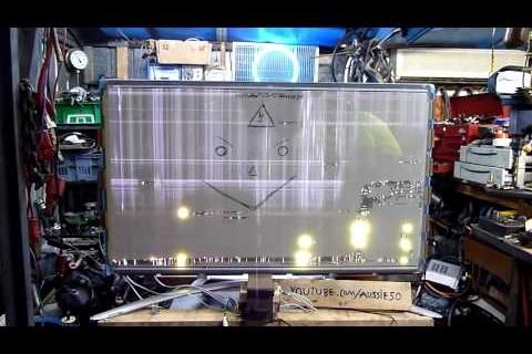 Détruire des écrans plasma avec de l'électricité