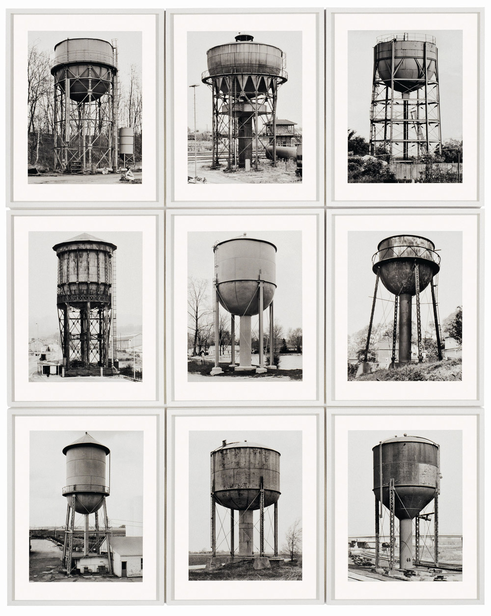 Les typologies photographiques de Bernd et Hilla Becher