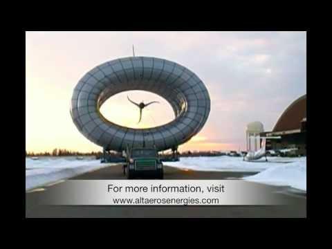 Une éolienne volante