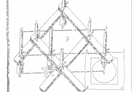 Pantograph, Christoph Scheiner, 1608