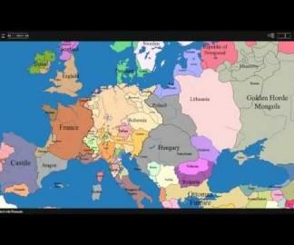 Timelapse des frontières européennes