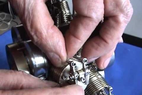 Construction d'un mini moteur radial