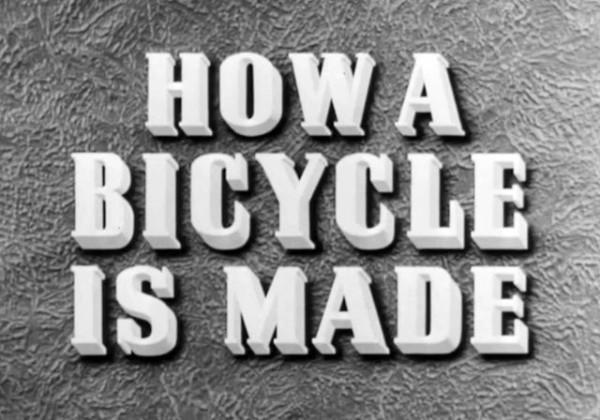 La fabrication d'un vélo – 1945