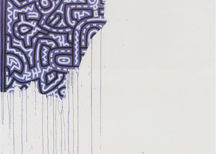 Keith Haring (1958-1990). Unfinished painting, 1989.