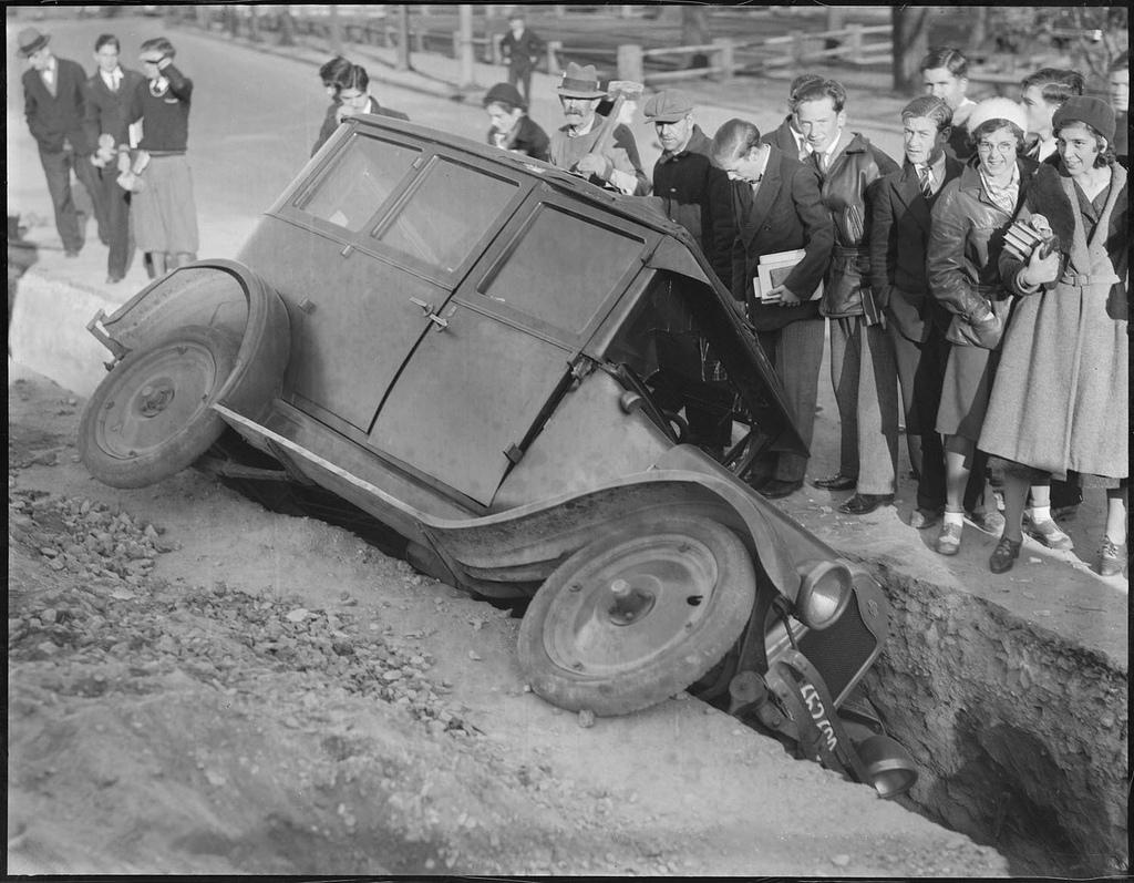 vintage accident voiture 1 Des accidents de voiture à lancienne