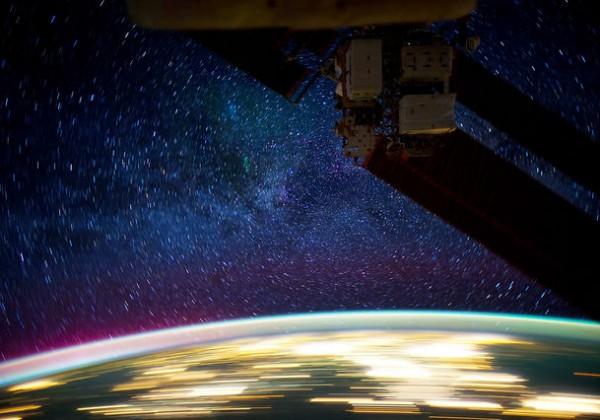 La nuit vue de l'ISS