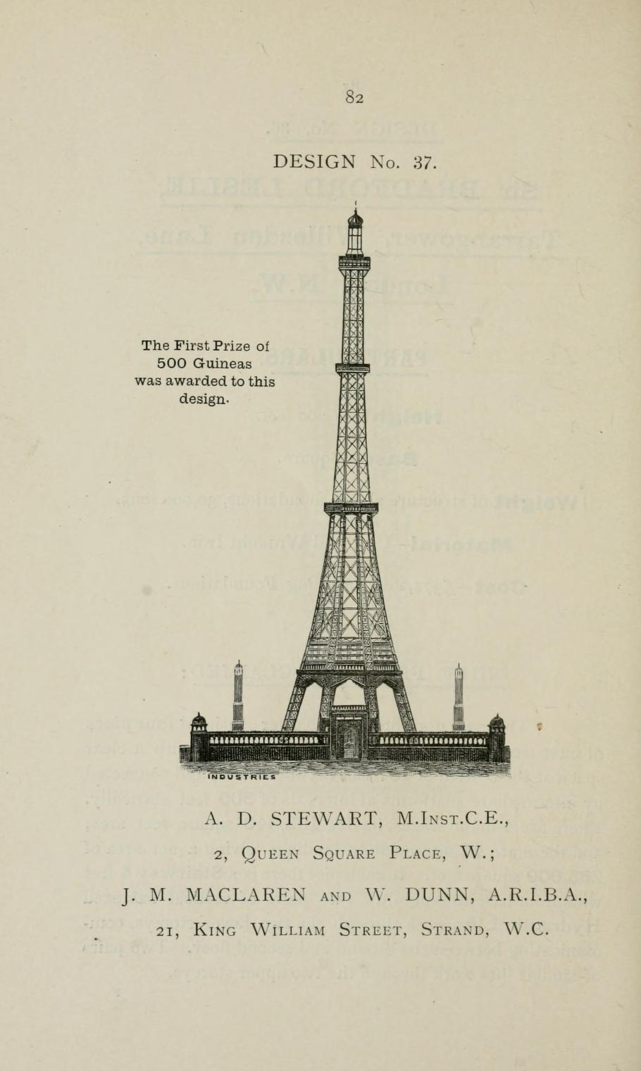 Les Plans De Londres En 1890 Pour Rivaliser Avec La Tour