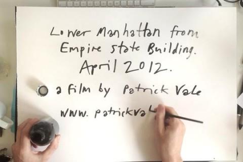 Dessiner Manhattan vu de l'Empire State Building