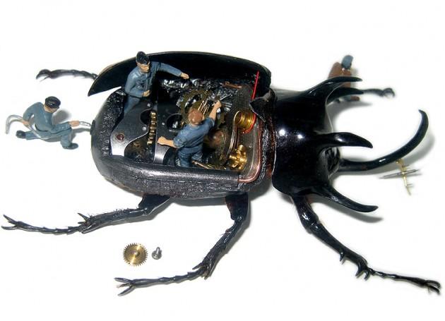 Des insectes machines miniatures