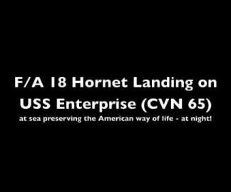 Appontez sur un porte-avion de nuit