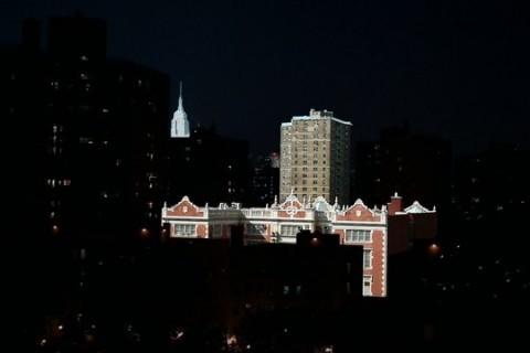 La nuit et le jour ensembles à New York