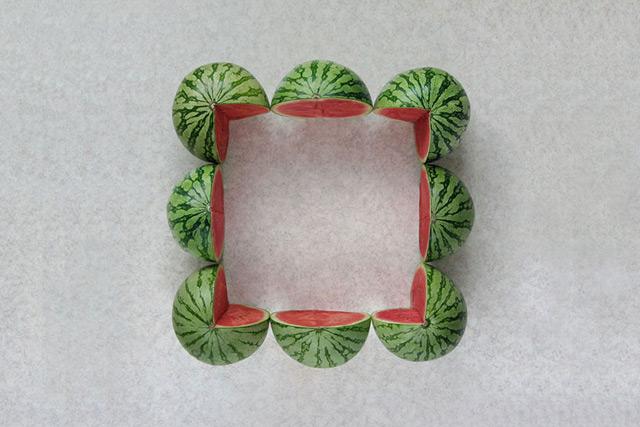 fruit geometrique 09 Des fruits géométriques