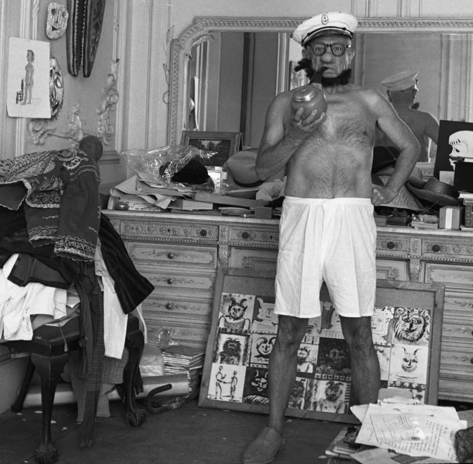 1957 picasso popeye 673x660 Pablo Picasso déguisé en Popeye en 1957