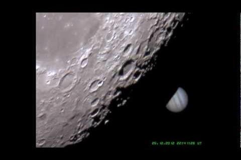 Jupiter passe derrière la Lune
