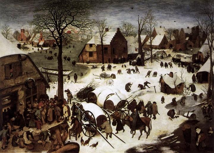The Census at Bethlehem by Pieter Bruegel the Elder 1566 720x514 Batailles de boules de neige au Moyen Age
