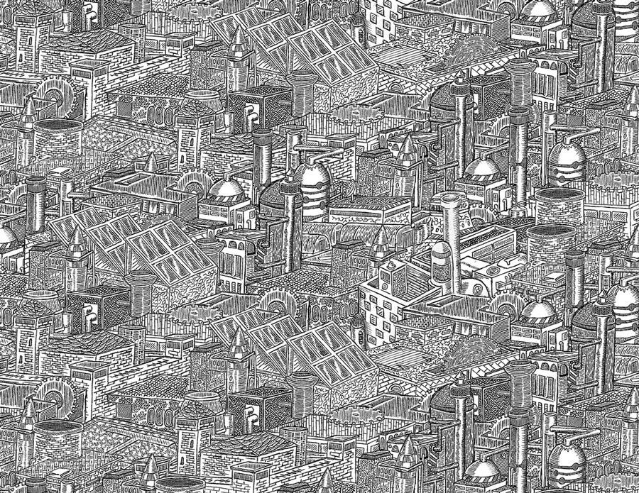 Super Des dessins minutieux en noir et blanc TD83