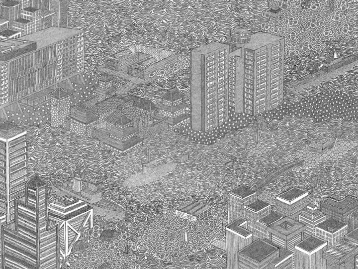 dessin minutieu 02 720x540 Des dessins minutieux en noir et blanc