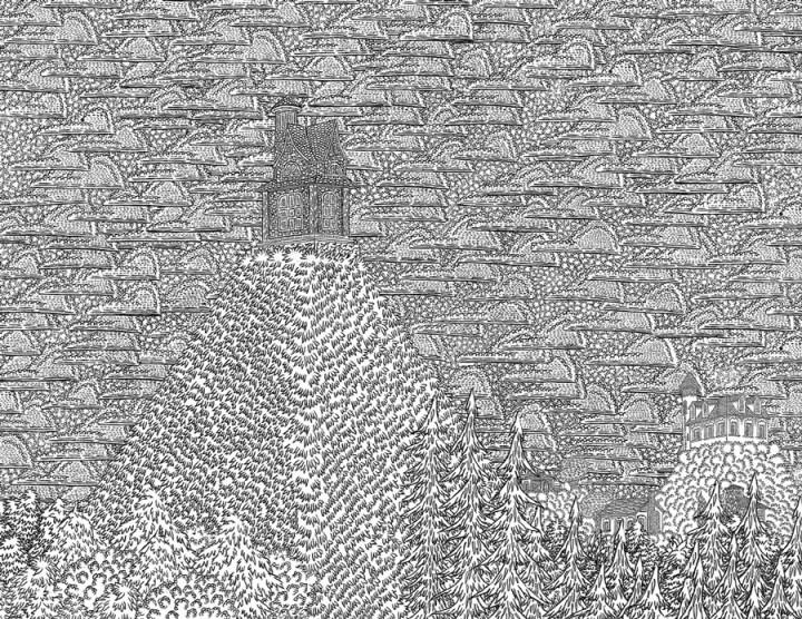 dessin minutieu 04 720x556 Des dessins minutieux en noir et blanc