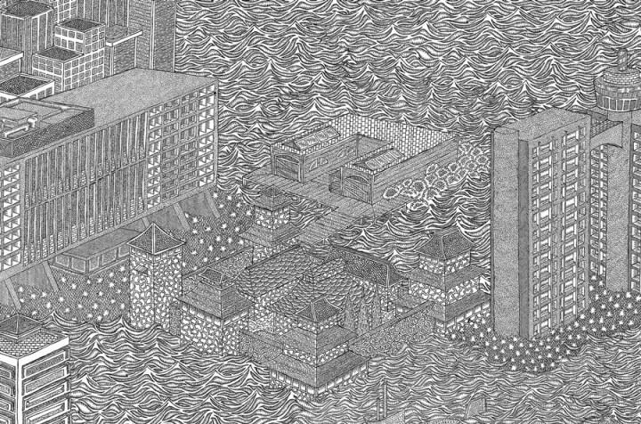 dessin minutieu 06 720x476 Des dessins minutieux en noir et blanc