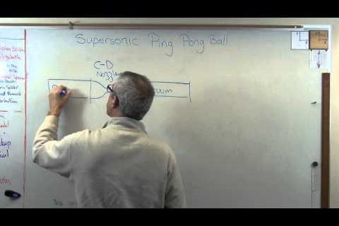 Une balle de ping pong supersonique