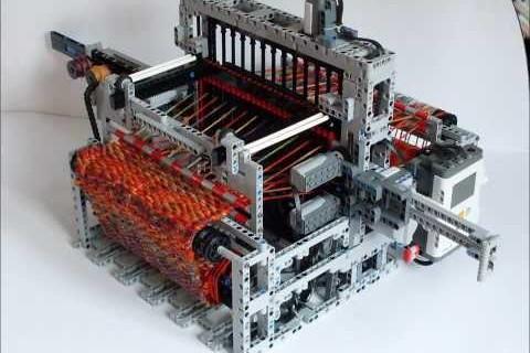 Un métier à tisser en Lego Mindstorm