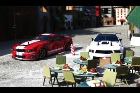 Course poursuite de voitures télécommandés